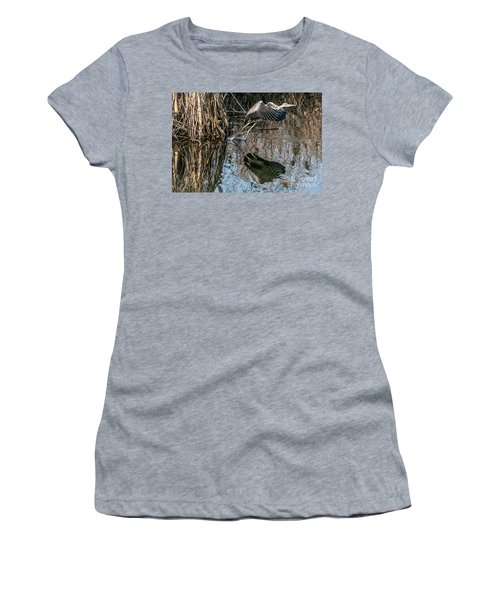 Gray Heron Flew Up Women's T-Shirt