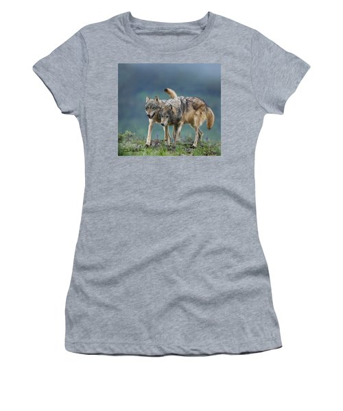 Gray Wolves Women's T-Shirt (Junior Cut) by Tim Fitzharris
