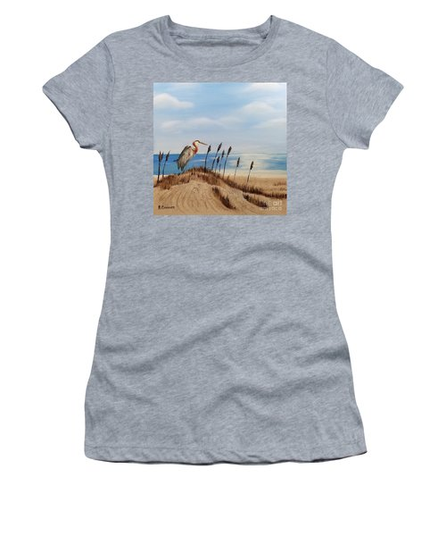 Great Blue Heron - Outer Banks Women's T-Shirt (Athletic Fit)