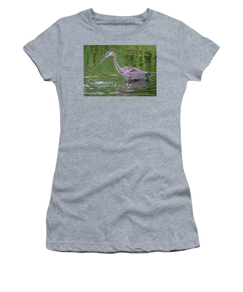 Great Blue Heron - The One That Got Away Women's T-Shirt