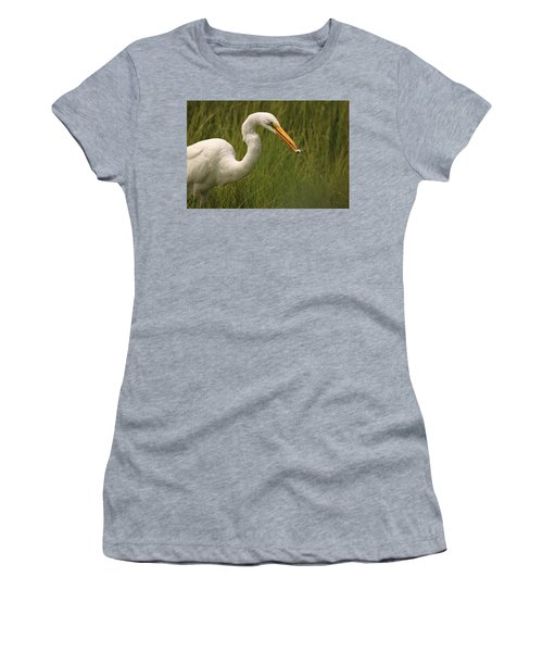 Great Egret With Lunch Women's T-Shirt