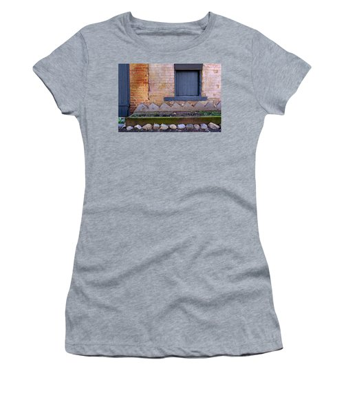 Great Place For Flowers Below A Purple Window In Frederick Maryl Women's T-Shirt