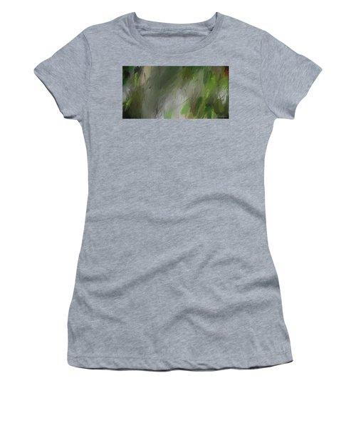 Green Abstract Wall Art Women's T-Shirt