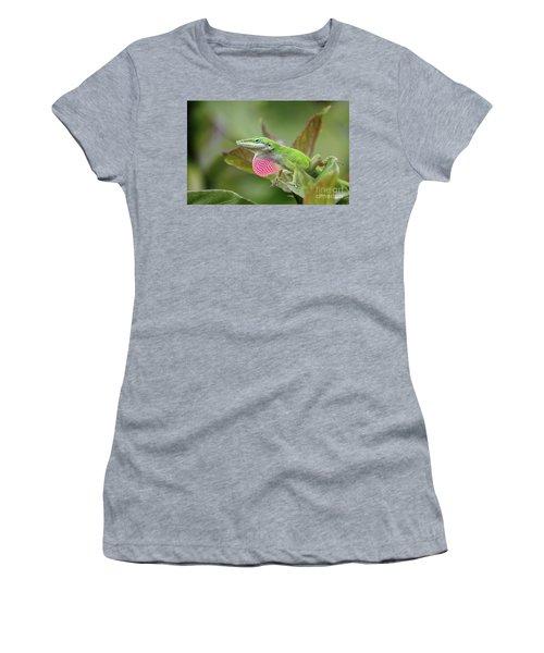 Green Anole Women's T-Shirt (Junior Cut) by Terri Mills