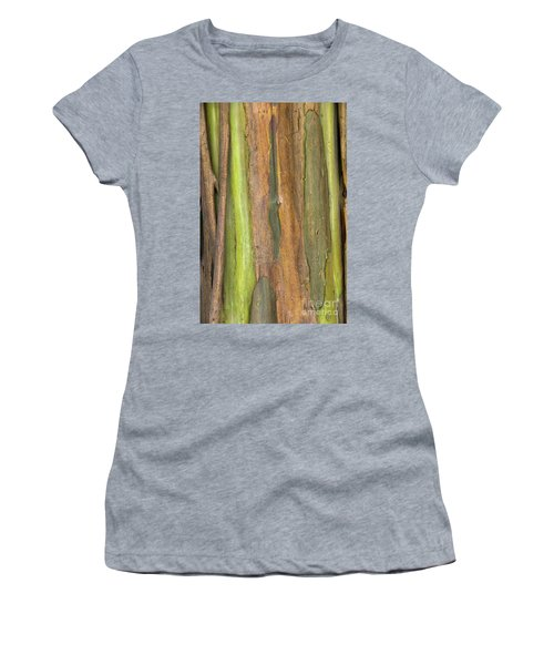 Women's T-Shirt (Junior Cut) featuring the photograph Green Bark 3 by Werner Padarin