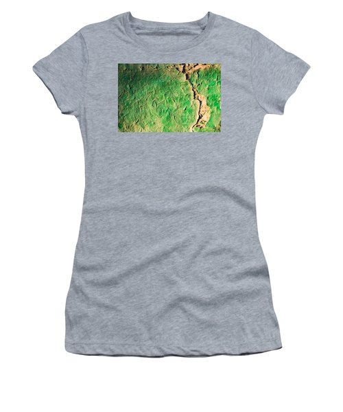 Green Flaking Brickwork Women's T-Shirt