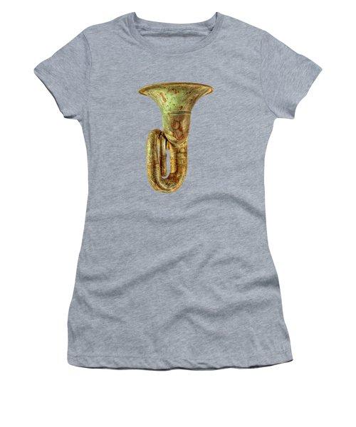 Green Horn Up On Black Women's T-Shirt