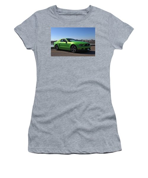 Green Mustang Women's T-Shirt (Athletic Fit)