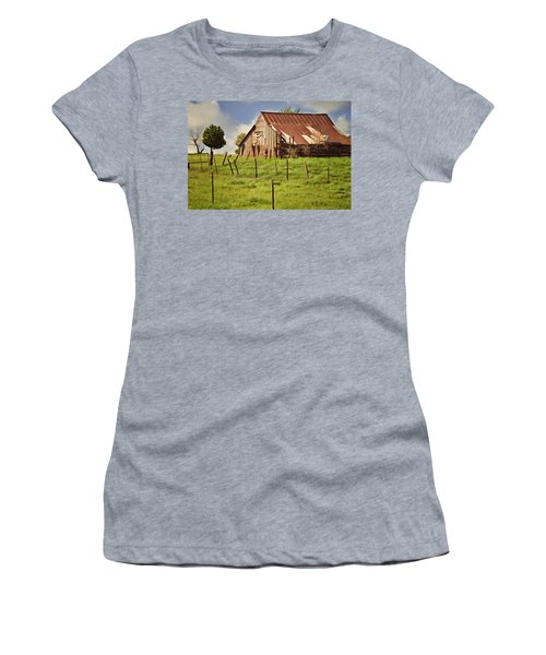 Green Pastures Women's T-Shirt (Junior Cut) by Lana Trussell