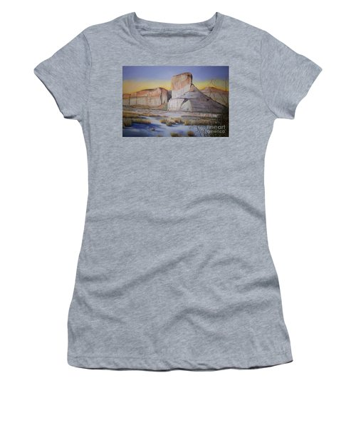 Green River Wyoming Women's T-Shirt (Junior Cut) by Marlene Book