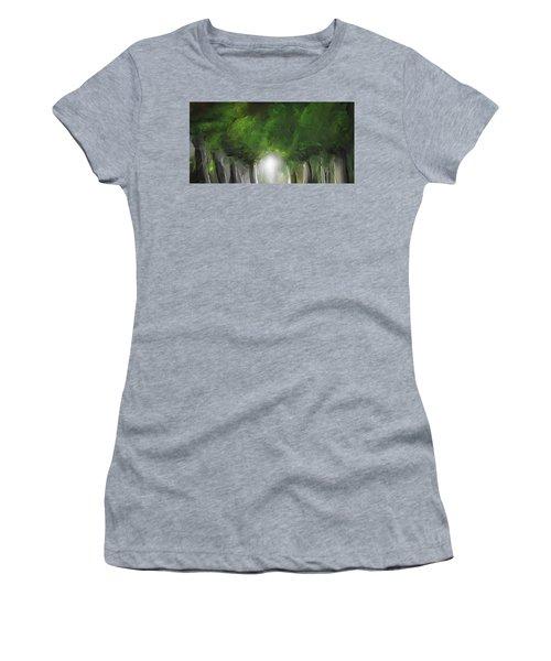 Green Serenity - Green Abstract Art Women's T-Shirt