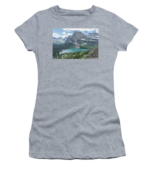 Grinnell Lake From Afar Women's T-Shirt (Athletic Fit)