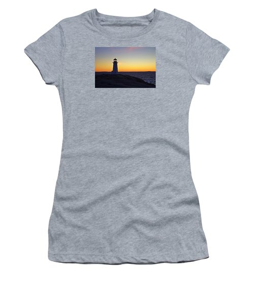 Peggy's Cove Lighthouse Women's T-Shirt (Junior Cut) by Heather Vopni