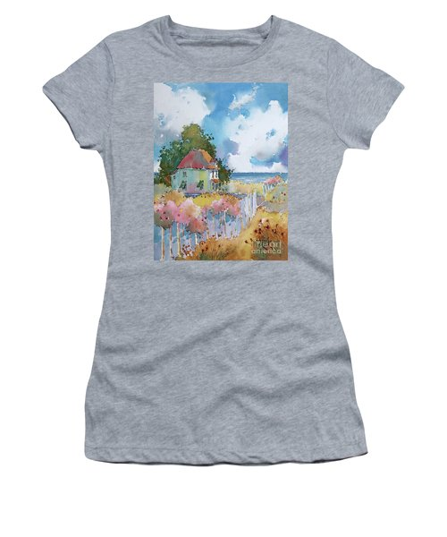 Gulf Coast Cottage Women's T-Shirt (Athletic Fit)