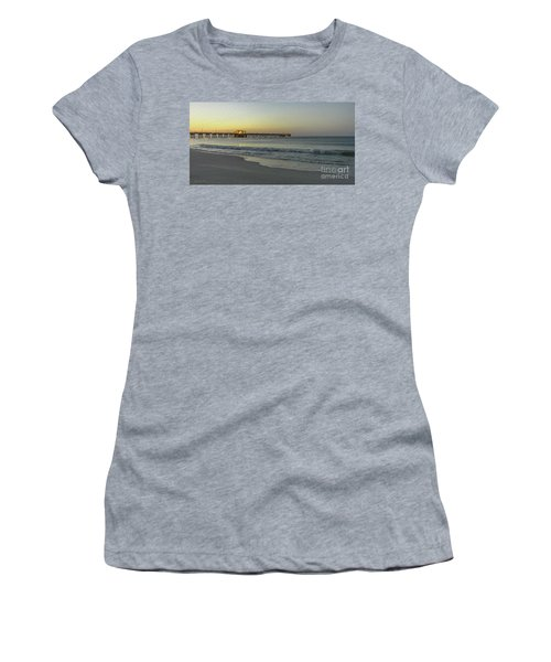 Gulf Shores Alabama Fishing Pier Digital Painting A82518 Women's T-Shirt