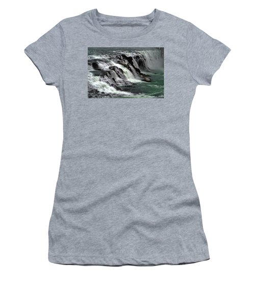 Gullfoss Waterfalls, Iceland Women's T-Shirt (Junior Cut) by Dubi Roman