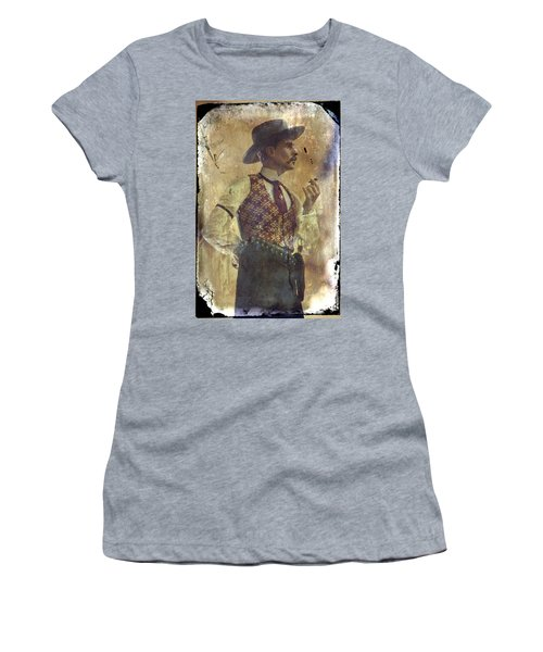Gunslinger IIi Doc Holliday In Fine Attire Women's T-Shirt (Athletic Fit)