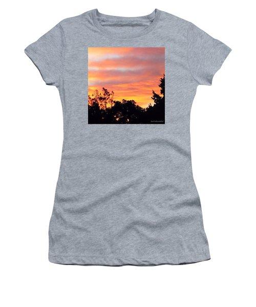 #halloween #morning #sky Is On #fire Women's T-Shirt