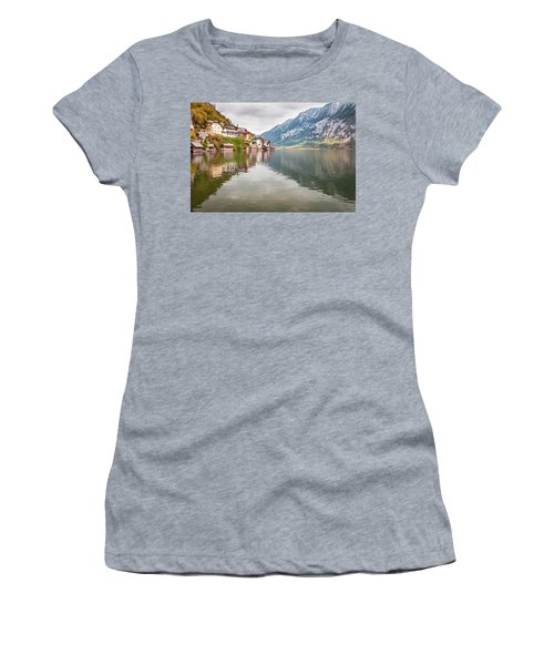 Women's T-Shirt (Athletic Fit) featuring the photograph Hallstat by Geoff Smith