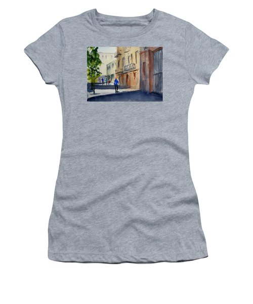 Hang Ah Alley Women's T-Shirt (Junior Cut) by Tom Simmons