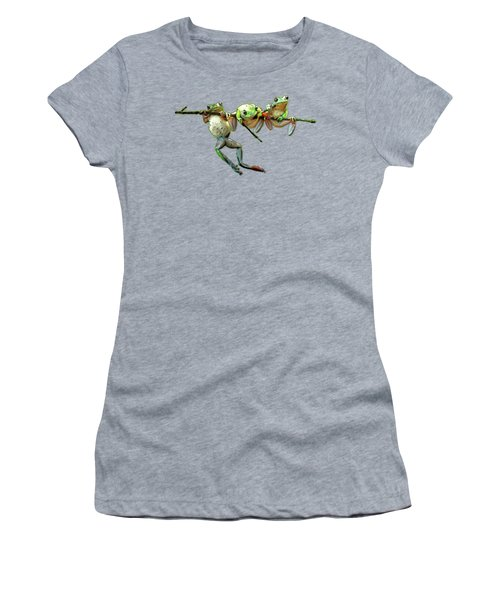 Hang In There Froggies Women's T-Shirt (Athletic Fit)