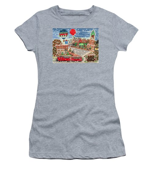 Happy Holidays From Lebanon, Ohio Women's T-Shirt (Athletic Fit)