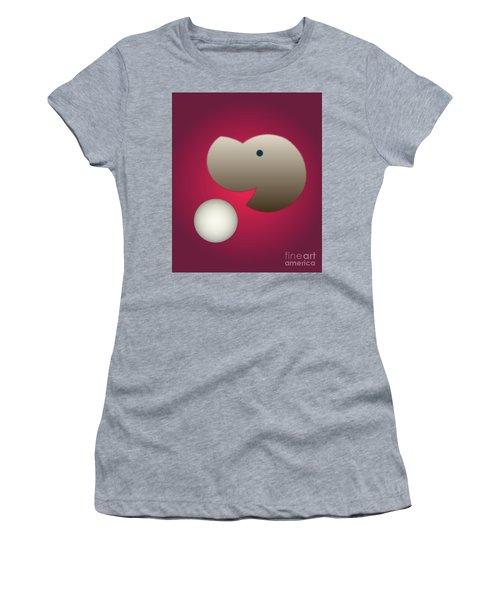 Women's T-Shirt (Junior Cut) featuring the digital art Happy by John Krakora