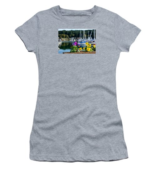 Women's T-Shirt (Junior Cut) featuring the photograph Happy Pansy by Tanya  Searcy