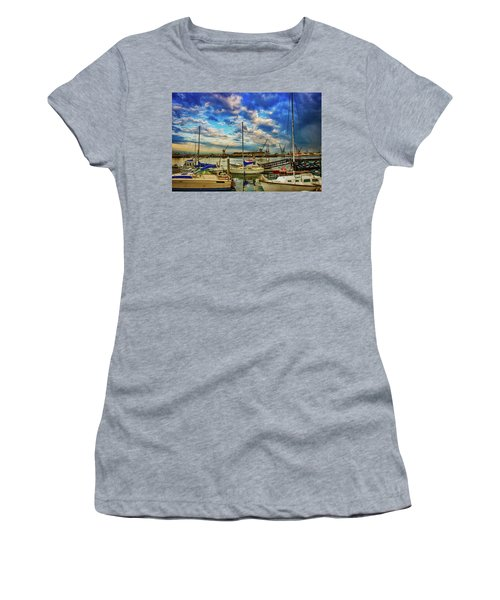 Harbor Scene Women's T-Shirt (Athletic Fit)