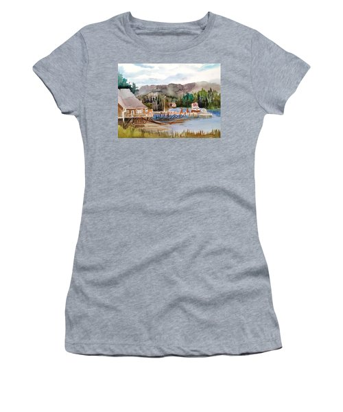 Harbour Scene Women's T-Shirt (Athletic Fit)