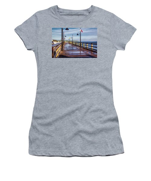 Women's T-Shirt featuring the photograph Harbour Town Pier by Randy Bayne