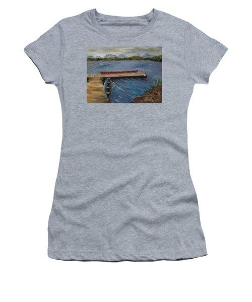 Harriet Hunt Lake, Ketchikan, Alaska Women's T-Shirt (Athletic Fit)