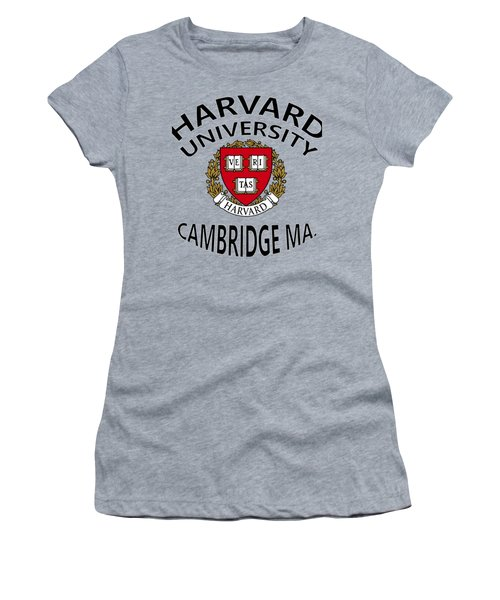 Harvard University Cambridge M A  Women's T-Shirt (Junior Cut) by Movie Poster Prints