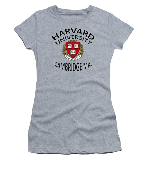 Harvard University Cambridge M A  Women's T-Shirt (Athletic Fit)