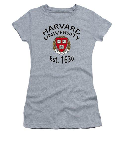 Harvard University Est 1636 Women's T-Shirt (Athletic Fit)