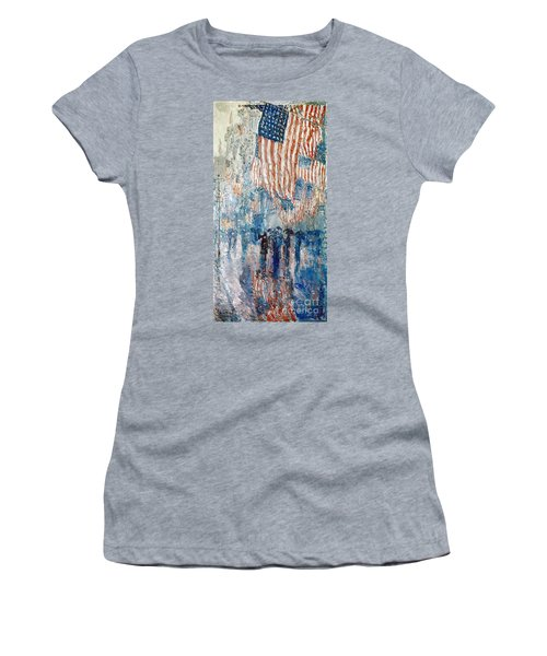 Women's T-Shirt featuring the photograph Hassam Avenue In The Rain by Granger