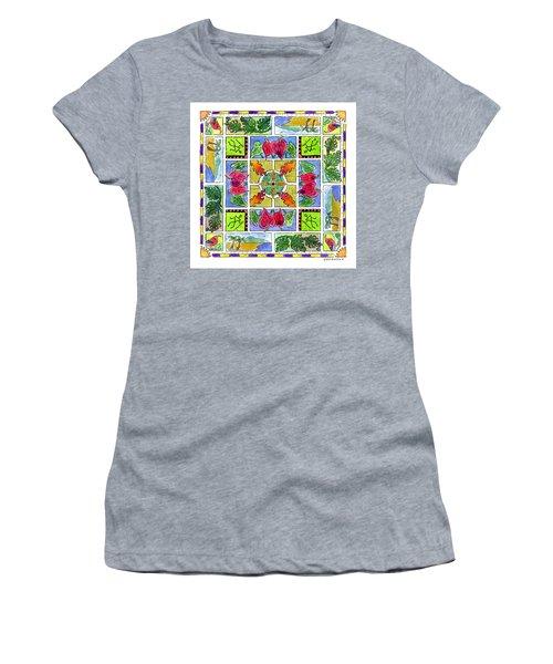 Hawaiian Mandala Iv - Anthuriums Women's T-Shirt