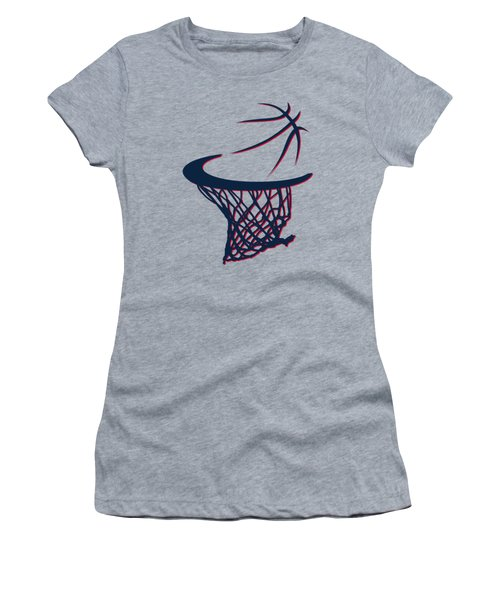 Hawks Basketball Hoop Women's T-Shirt (Junior Cut)