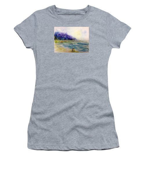 Hazy Beach Scene Women's T-Shirt (Athletic Fit)