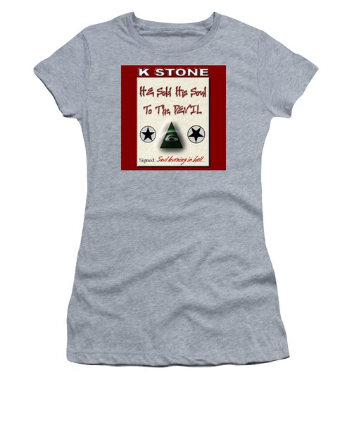 He Sold His Soul To The Devil Women's T-Shirt (Athletic Fit)
