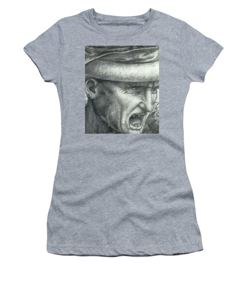 Head Of A Warrior, Copy Of A Detail From The Battle Of Anghiari Women's T-Shirt