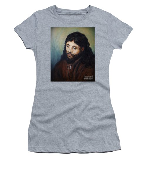 Head Of Christ After Rembrandt Women's T-Shirt (Athletic Fit)