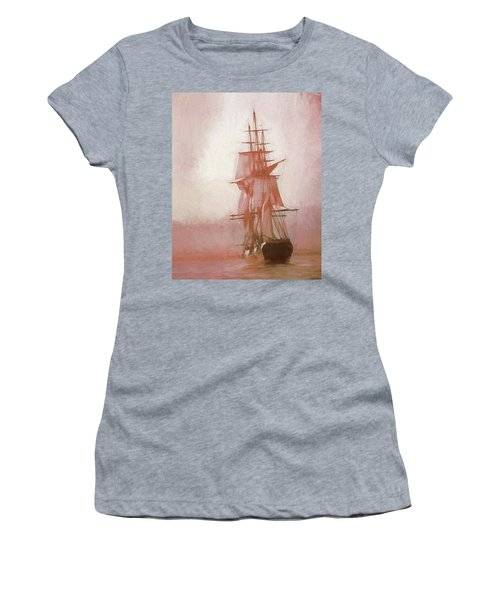 Women's T-Shirt (Athletic Fit) featuring the photograph Heading To Salem From The Sea by Jeff Folger