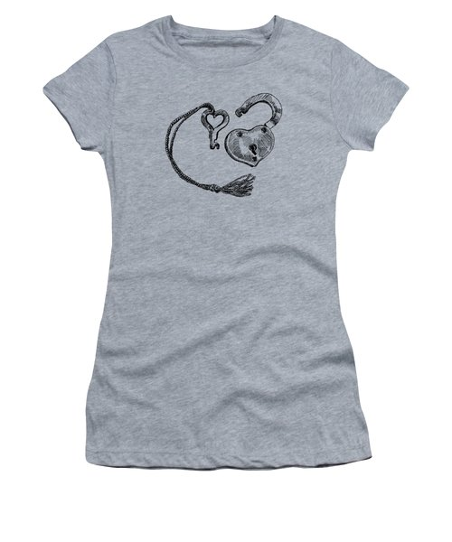 Heart Lock And Key Women's T-Shirt