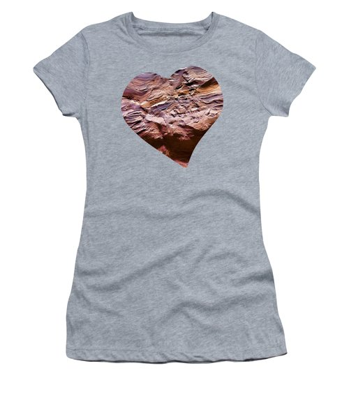 Heart Shape Stone Art Women's T-Shirt