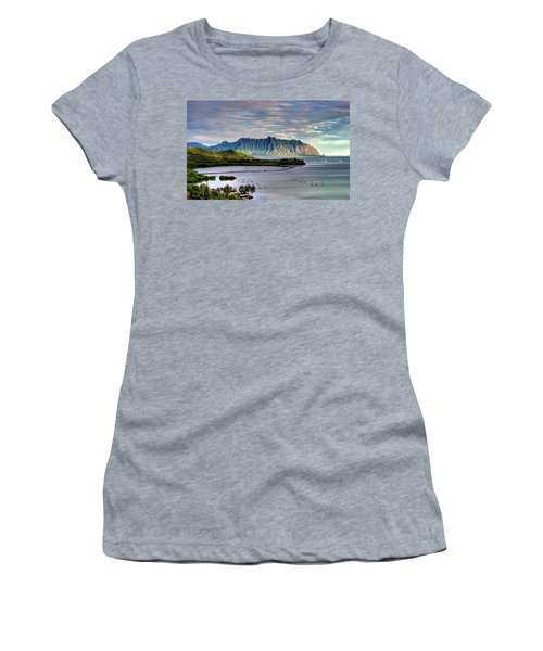He'eia Fish Pond And Kualoa Women's T-Shirt (Athletic Fit)