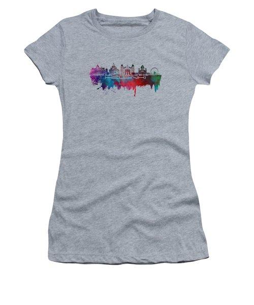 Helsinki Skyline City Blue Women's T-Shirt