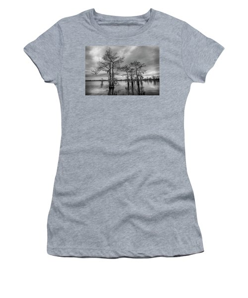 Henderson Swamp Wetplate Women's T-Shirt (Junior Cut) by Andy Crawford