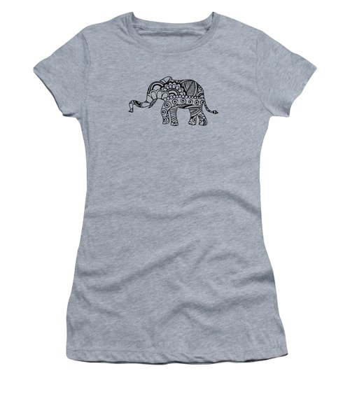 Henna Elephant 1 Women's T-Shirt (Athletic Fit)