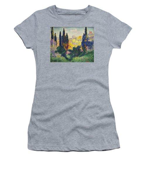 Henri Edmond Cross French Les Cypres A Cagnes Women's T-Shirt